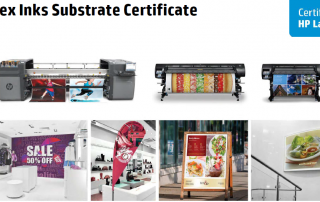HP Latex Inks Certificate for Intercoat