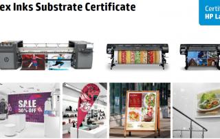 HP Latex Inks Certificate for Intercoat